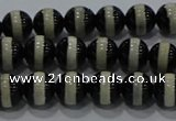 CAG9132 15.5 inches 6mm round tibetan agate beads wholesale