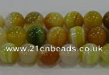 CAG9163 15.5 inches 6mm round line agate beads wholesale