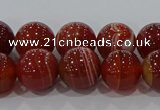 CAG9178 15.5 inches 8mm round line agate beads wholesale