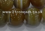 CAG9198 15.5 inches 16mm round line agate gemstone beads