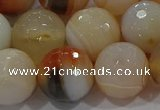 CAG9226 15.5 inches 16mm faceted round line agate beads wholesale