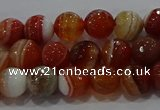 CAG9230 15.5 inches 6mm faceted round line agate beads wholesale