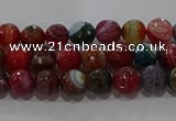 CAG9262 15.5 inches 4mm faceted round line agate beads wholesale