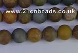 CAG9281 15.5 inches 6mm round matte ocean jasper beads wholesale