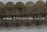 CAG9344 15.5 inches 8mm round matte grey agate beads wholesale