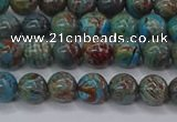 CAG9471 15.5 inches 4mm round blue crazy lace agate beads