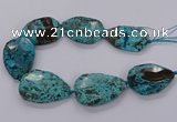 CAG9530 15.5 inches 35*50mm - 38*52mm freeform ocean agate beads