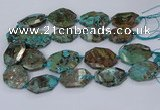 CAG9553 15.5 inches 25*35mm - 30*45mm freeform ocean agate beads
