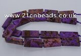 CAG9556 15.5 inches 20*40mm - 20*45mm rectangle ocean agate beads