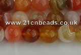 CAG9562 15.5 inches 8mm round red botswana agate gemstone beads