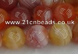 CAG9564 15.5 inches 12mm round red botswana agate gemstone beads