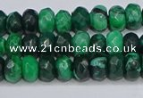 CAG9595 15.5 inches 5*8mm faceted rondelle crazy lace agate beads