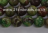 CAG9646 15.5 inches 8mm round ocean agate gemstone beads wholesale