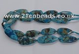 CAG9650 15.5 inches 20*40mm - 20*45mm freeform ocean agate beads