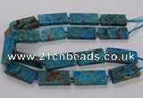 CAG9652 15.5 inches 20*40mm - 20*45mm rectangle ocean agate beads