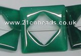 CAG969 15.5 inches 30*30mm square green agate gemstone beads wholesale