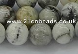 CAG9734 15.5 inches 12mm round black & white agate beads wholesale