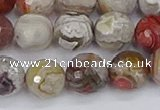 CAG9863 15.5 inches 10mm faceted round Mexican crazy lace agate beads