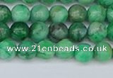 CAG9939 15.5 inches 6mm round green crazy lace agate beads