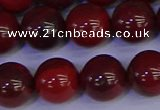 CAJ754 15.5 inches 12mm round apple jasper beads wholesale
