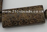 CAL10 14.5 inches 28*60mm carved rectangle agalmatolite beads