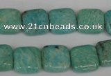 CAM1027 15.5 inches 14*14mm square natural Russian amazonite beads