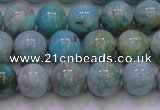 CAM1253 15.5 inches 10mm round natural Russian amazonite beads