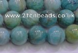CAM1254 15.5 inches 12mm round natural Russian amazonite beads