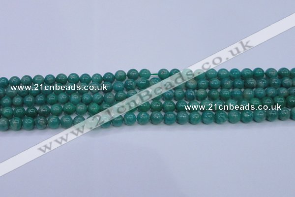 CAM1301 15.5 inches 6mm round natural Russian amazonite beads