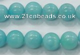 CAM309 15.5 inches 12mm round natural peru amazonite beads wholesale