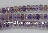 CAN15 15.5 inches 4*6mm faceted rondelle natural ametrine beads