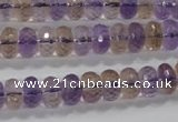 CAN17 15.5 inches 6*10mm faceted rondelle natural ametrine beads
