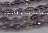 CAN19 15.5 inches 8*12mm faceted rice natural ametrine beads