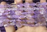 CAN236 15.5 inches 10*14mm faceted oval ametrine beads wholesale