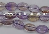 CAN47 15.5 inches 8*12mm oval natural ametrine gemstone beads