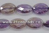 CAN56 15.5 inches 12*16mm faceted oval natural ametrine beads