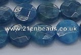 CAP388 15.5 inches 10mm faceted coin apatite gemstone beads