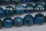 CAP522 15.5 inches 8mm faceted round apatite gemstone beads
