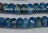 CAP529 15.5 inches 4*7mm faceted rondelle apatite gemstone beads