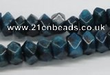 CAP60 15.5 inches 6*12mm faceted rondelle dyed apatite gemstone beads