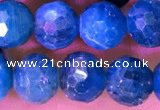 CAP659 15.5 inches 7mm faceted round apatite gemstone beads