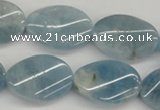 CAQ151 15.5 inches 18*25mm twisted oval natural aquamarine beads