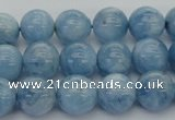 CAQ538 15.5 inches 10mm round AAA grade natural aquamarine beads