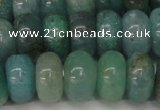 CAQ614 15.5 inches 8*14mm rondelle aquamarine gemstone beads