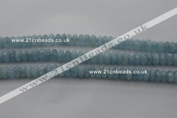 CAQ82 15.5 inches 5*9mm faceted rondelle AA grade aquamarine beads