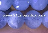 CAQ888 15.5 inches 9mm faceted round natural aquamarine beads