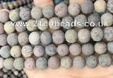 CAR373 15.5 inches 10mm round matte artistic jasper beads wholesale