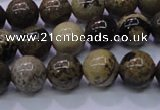 CAR50 15.5 inches 4mm round yellow artistic jasper beads