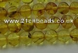 CAR521 15.5 inches 5mm - 6mm round natural amber beads wholesale