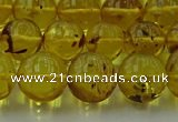 CAR524 15.5 inches 9mm - 10mm round natural amber beads wholesale
